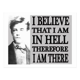 Rimbaud dans l'enfer carte postale