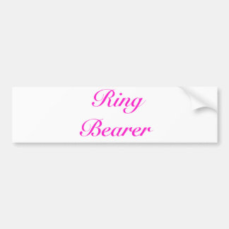 ringbearer girly autocollant pour voiture