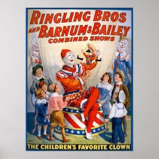 Ringling vintage Bros - Barnum et exposition de Posters