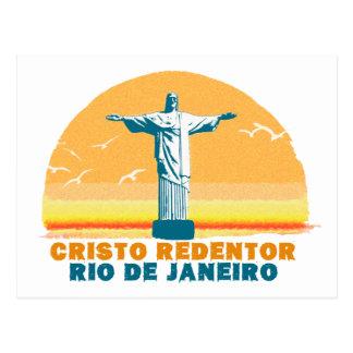 Rio - Corcovado - Jésus-Christ le rédempteur Carte Postale