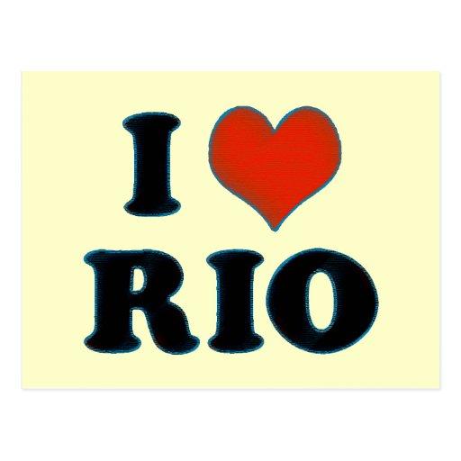 Rio de Janeiro - amour Rio d'I Cartes Postales