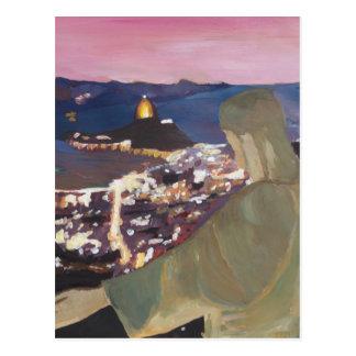 Rio de Janeiro avec le Christ le rédempteur 2 Carte Postale