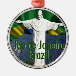Rio de Janeiro Brésil Ornement Rond Argenté