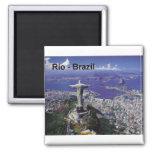 Rio de Janeiro du Brésil (St.K.) Magnet Carré