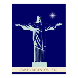 Rio de Janeiro du Christ Carte Postale