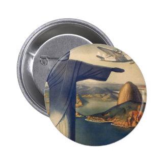 Rio de Janeiro vintage, le Christ la statue de Badges