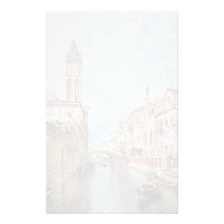 Rio Père Noël Barnaba, Venise par Franz Unterberge Papier À Lettre Personnalisable