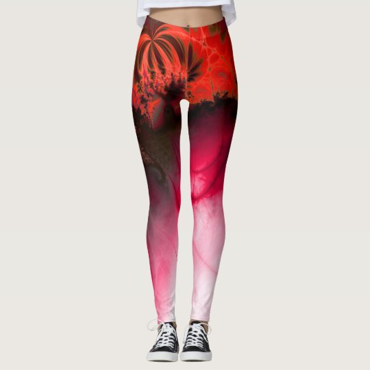 Ripple effet (red) leggings