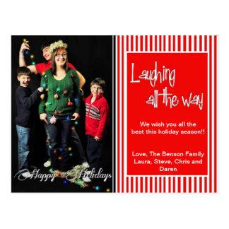 Rire complètement Noël PhotoCard Carte Postale