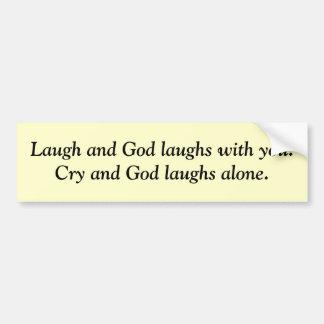 Rires de Dieu Autocollant Pour Voiture