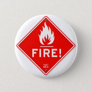 Risque d'incendie rouge de panneau d'avertissement badges