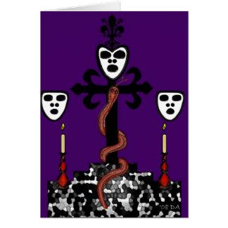 Ritual Symbol de baron Samedi's Carte De Vœux