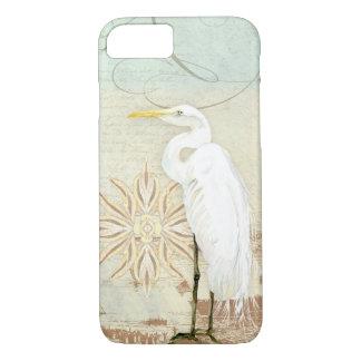 Rivage côtier héron nautique d'art d'oiseaux de coque iPhone 7