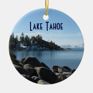 Rivage du nord le lac Tahoe, village de pente, Ornement Rond En Céramique