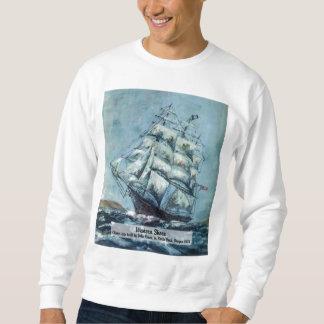 Rivage occidental de bateau de tondeuse sweatshirt