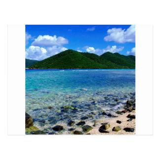 Rivage tropical St John de point de crique de Mary Cartes Postales