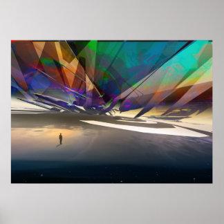 Rivages cosmiques du subconscient - art visionnair posters