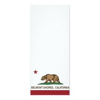 Rivages de Belmont de drapeau d'ours de République Carton D'invitation 10,16 Cm X 23,49 Cm