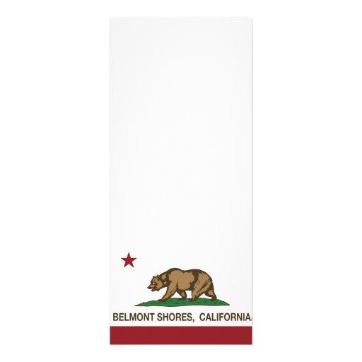 Rivages de Belmont de drapeau d'ours de République Cartons D'invitation