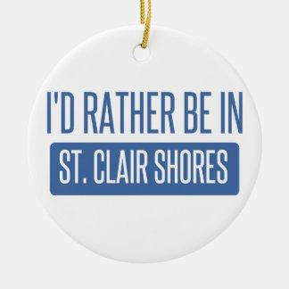 Rivages de St Clair Ornement Rond En Céramique