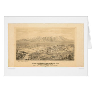 Rive, carte panoramique 1877 (1404C) de CA