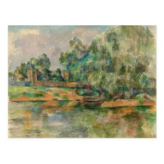Rive par la carte postale de Paul Cezanne