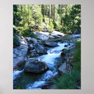 Rivière américaine, montagnes, portrait affiche