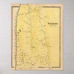 Rivière Dale et carte d'atlas de Mt Saint Vincent Poster