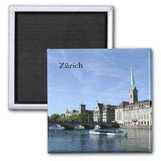 Rivière de Limmat dans Zürich Magnet Carré