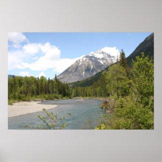 Rivière de South Fork, parc national de glacier Posters