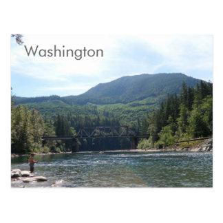 Rivière en carte postale de l'état de Washington