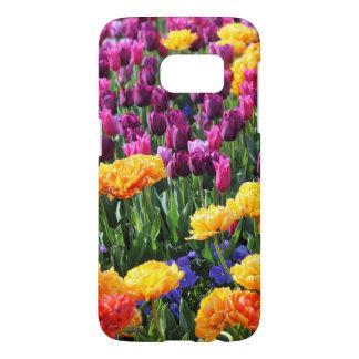 Rivière florale de coucher du soleil de Falln Coque Samsung Galaxy S7