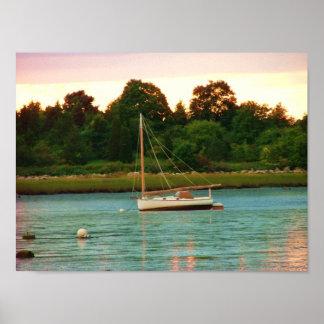 rivière Kingston de Jones de bateau à voile Affiche