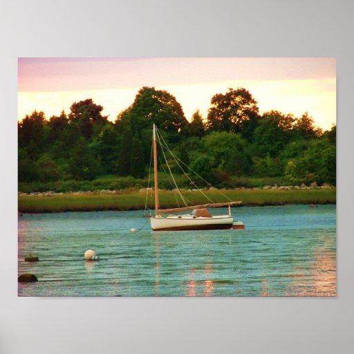 rivière Kingston de Jones de bateau à voile Poster