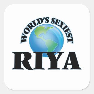Riya le plus sexy du monde autocollant carré