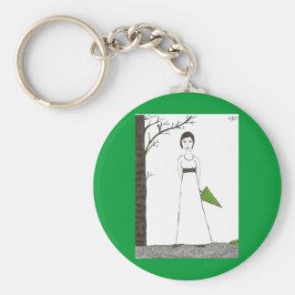 Riz de Jane Austen Porte-clé Rond