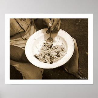 Riz et haricots, histoire, Porto Rico Poster