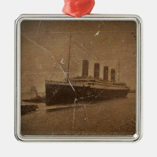 RMS Titanic Southampton Ornement Carré Argenté