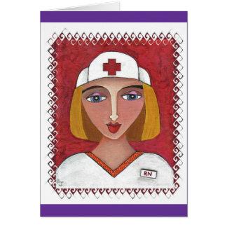 RN blond - merci des notes des infirmières