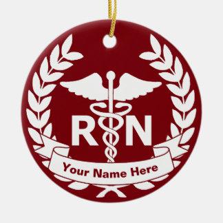 RN (infirmier autorisé) Ornement Rond En Céramique