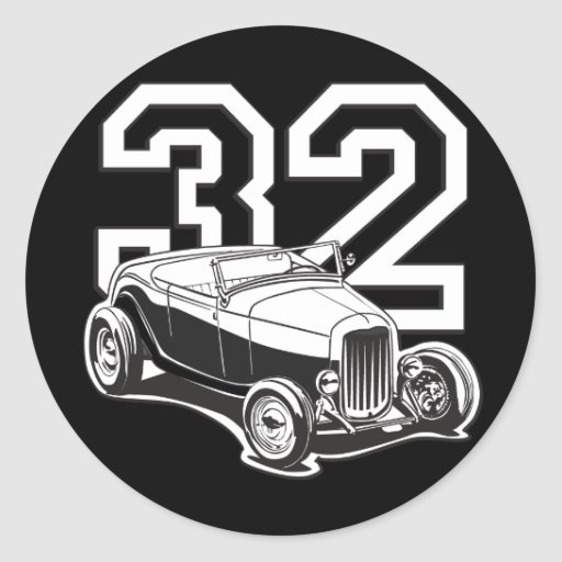 Roadster 32 autocollant rond