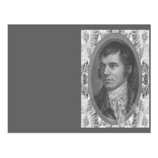Robbie brûle le portrait (gris) cartes postales