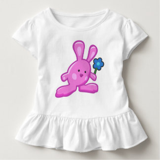 Robe à volants Bébé Lapin Rose