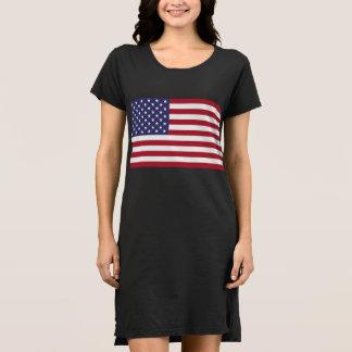 Robe alternative de T-shirt du drapeau américain