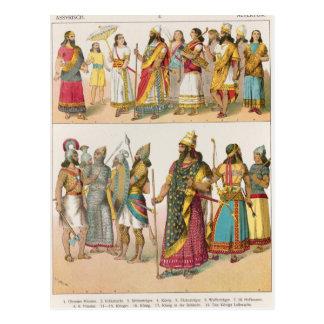 "Robe assyrienne, de ""der Voelker de Trachten"", Cartes Postales"