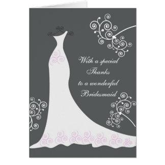 Robe blanche, remous sur le Merci noir de mariage Cartes