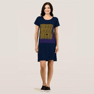 Robe bleue de T-shirt de Goldweave