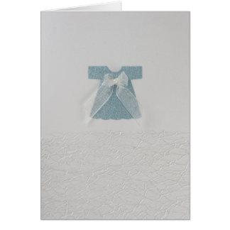 Robe de bébé bleu carte de vœux