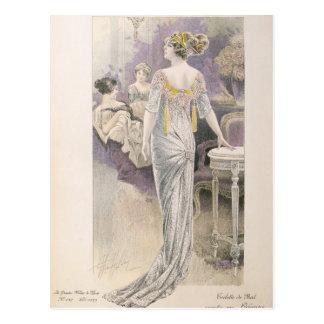 Robe de boule, des 'modes De Paris de Les Grandes Carte Postale