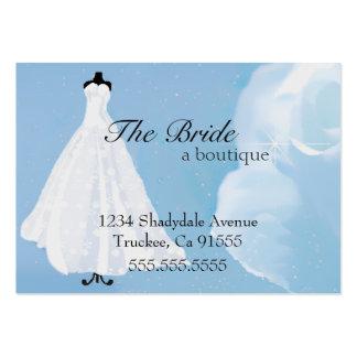 Robe de Boutique-Mariage de jeune mariée Carte De Visite Grand Format